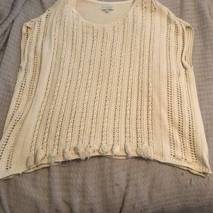 Lucky Brand Short Sleeve Sweater Blouse Size L/XL